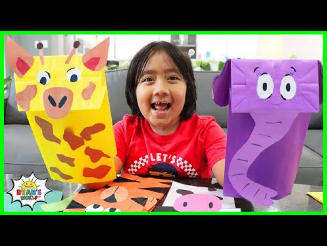 How to Make Animal Puppets from Paper Lunch bags DIY!!!