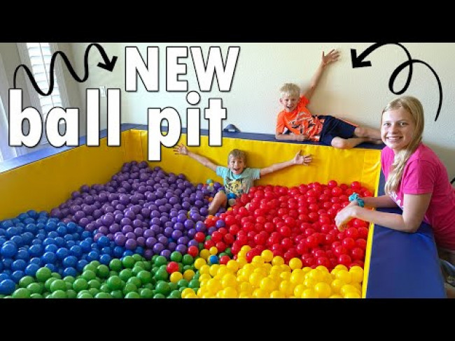Huge Ball Pit Room Makeover!!