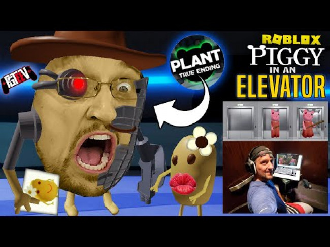 I am MR. P in ROBLOX PIGGY!  Gaming in an ELEVATOR! (FGTeeV's Chapter 12 Plant TRUE ENDING)