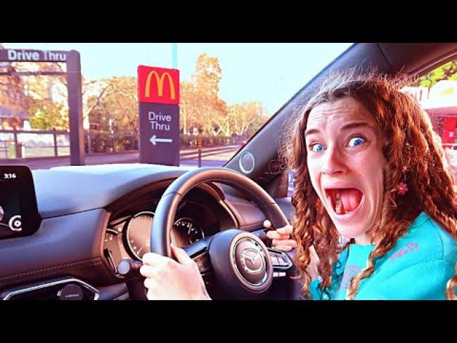 I CRASHED IN THE DRIVE THRU?