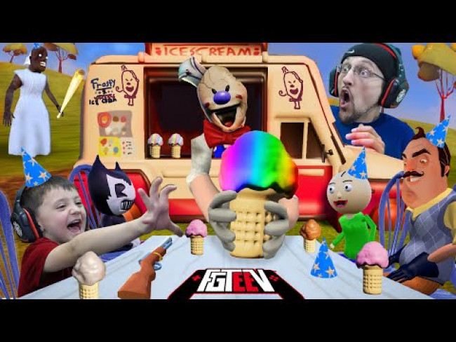 ICE SCREAM in Hello Neighbor! (Scary Party MOD with Granny, Baldi, Bendy & More)