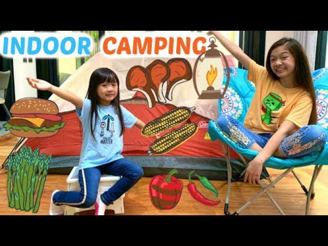INDOOR CAMPING Challenge for 24 hours