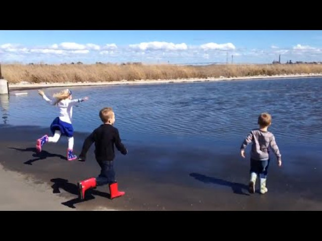 Jumping in puddles. Big puddles. Family Fun Pack Throwback Video