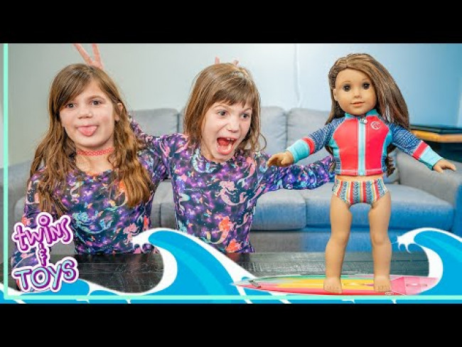 Kate and Lilly Get a New American Girl Doll with Pretend Play Magic!