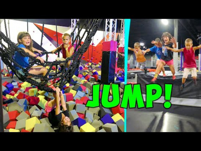 Kate and Lilly go to GIANT Indoor Trampoline Park!