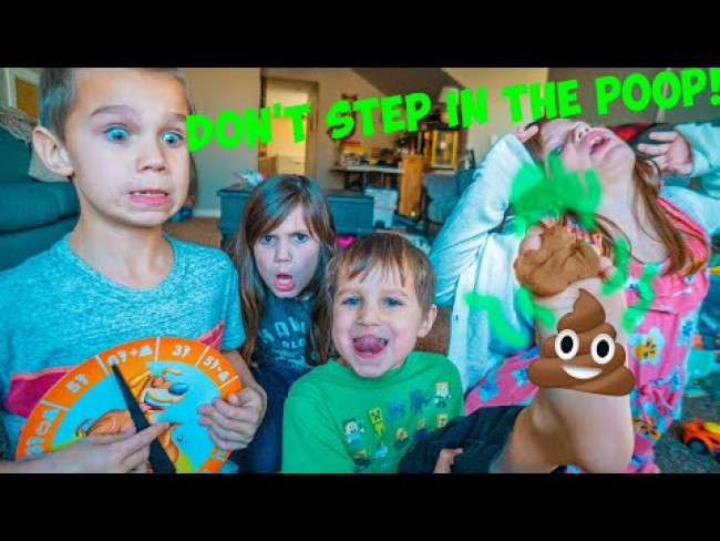 Kate and Lilly Play Don't Step in the Poo with Friends!