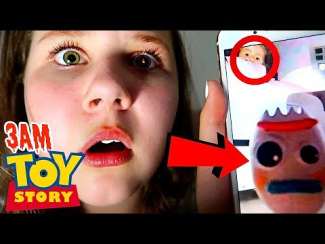 MAKING FORKY FROM TOY STORY 4 AT 3AM!! (FORKY FACETIME CALL FROM BONNIE 's ROOM)