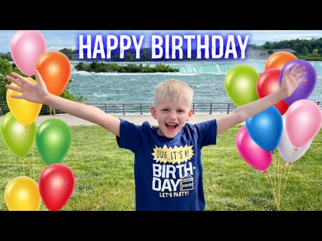 Michael Turns 8!!  Birthday at Niagara Falls!