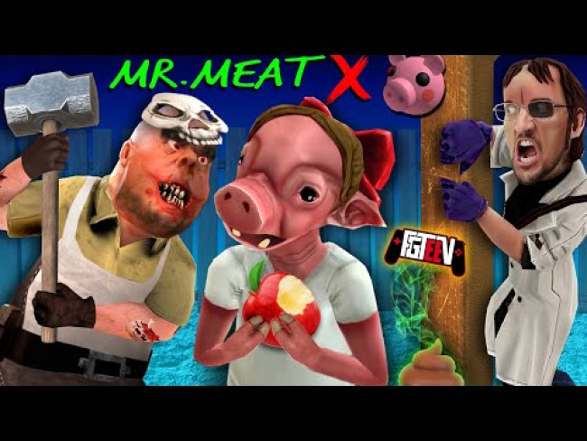 MR. MEAT trapped PIGGY?!?! (FGTeeV's Double Secret Ending Scientist Update)