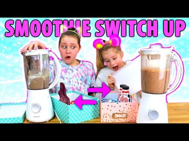 MYSTERY BOX OF SMOOTHIE SWITCH UP CHALLENGE!! (Gross Ingredients)