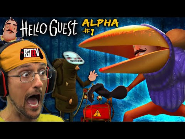 New HELLO NEIGHBOR the CROW GAME! (FGTeeV Hello Guest Alpha 1: The Never Ending Gameplay )