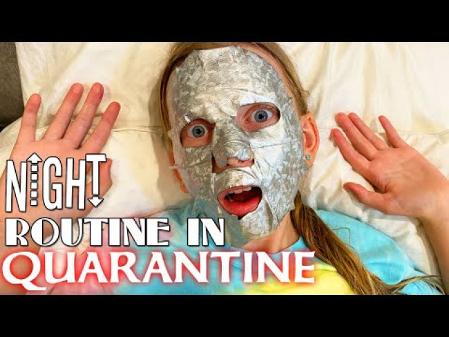Night Routine in QUARANTINE - So Bored I Turned My Face SILVER!