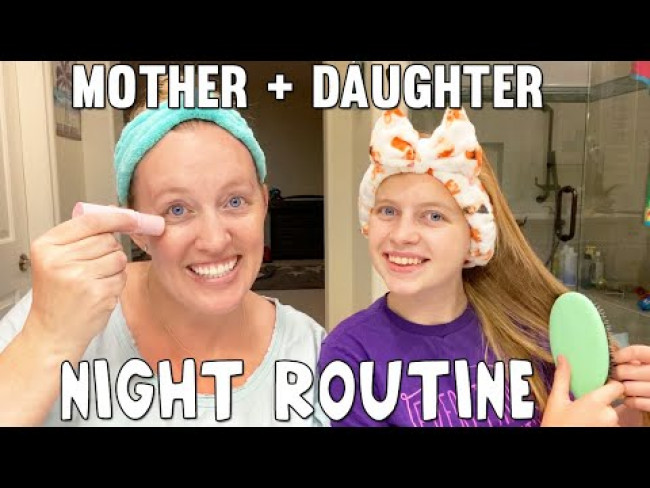 Night Routine with my Teenage Daughter