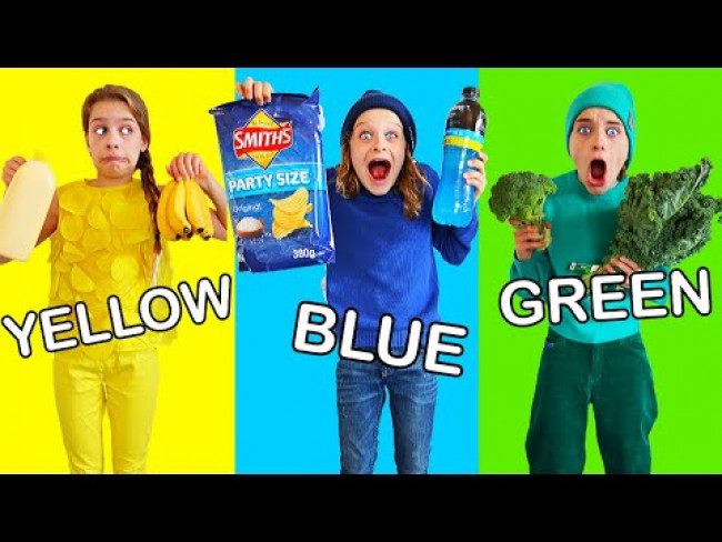 ONLY USING ONE COLOR TO COOK Challenge - Best Gourmet Meal wins iPhone 11 Pro Max