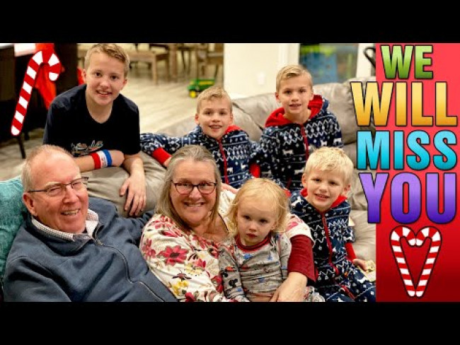 Our LAST Day in California!  Chaos, Presents & Packing! || Mommy Monday Christmas at Grandparents