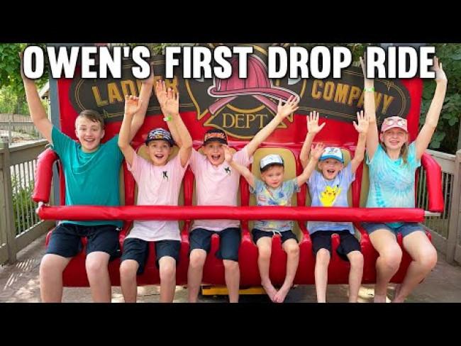 Owen Rides a HUGE Drop Ride!