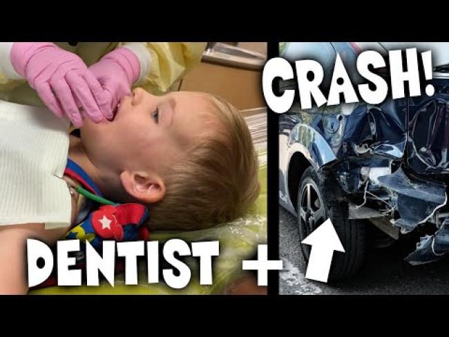Owen's First Dentist Trip & HUGE Car Accident