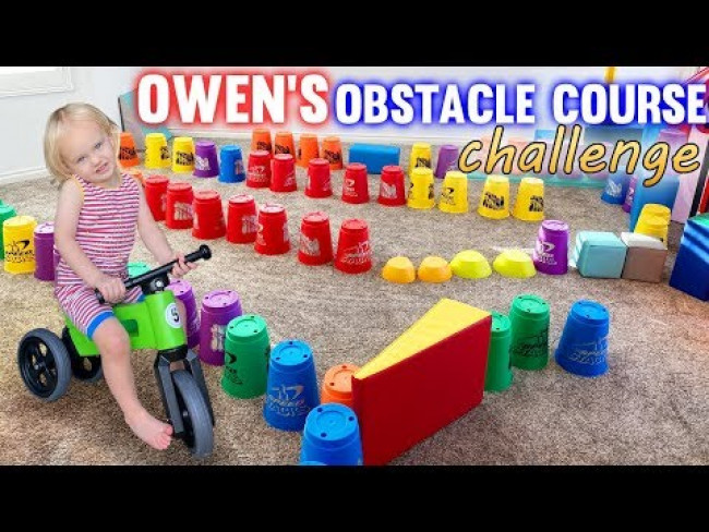 Owen's First Obstacle Course Challenge!! (SO CUTE!!!)