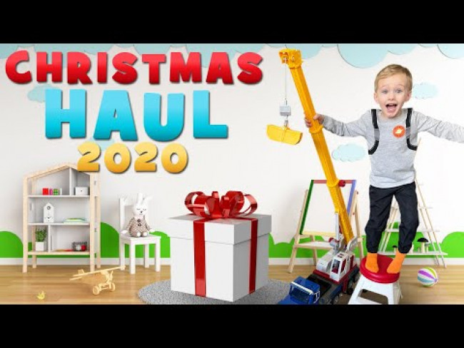 Owen's First Video! Christmas Haul 2020