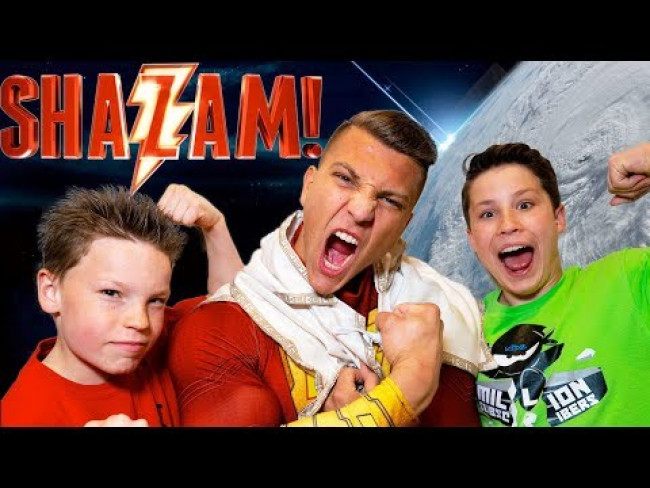 Paxton is Shazam part 2! Ninja Kidz TV
