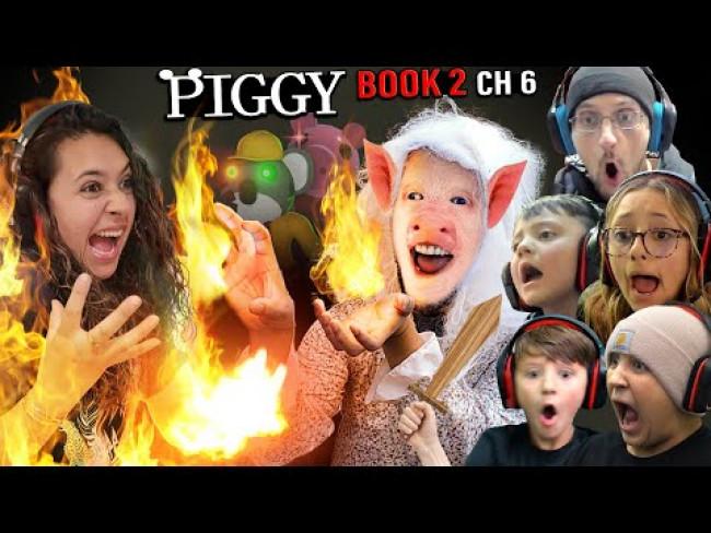 PIGGY FIRE!  FGTeeV vs. The Factory (ROBLOX Book 2 Chapter 6)