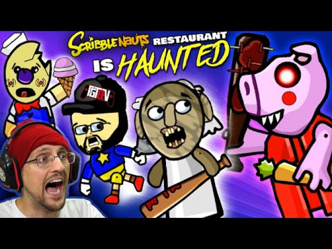 PIGGY invades FGTeeV's HAUNTED Restaurant!  Revenge 4 Granny! (Scribblenauts Unlimited #4)