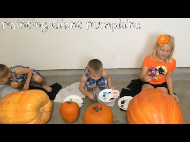 Pumpkin Painting with the Kids!