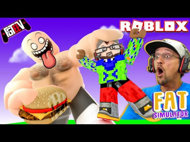 ROBLOX FATTY PANTS!  I got so fat, I BROKE THE INTERNET!  (FGTeeV x Fat Simulator x Munching Master)