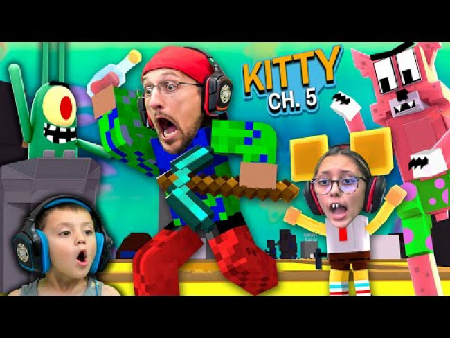 ROBLOX KITTY meets MINECRAFT SPONGEBOB!  FGTeeV Escapes Chapter 5 (1 Million Giveaway)