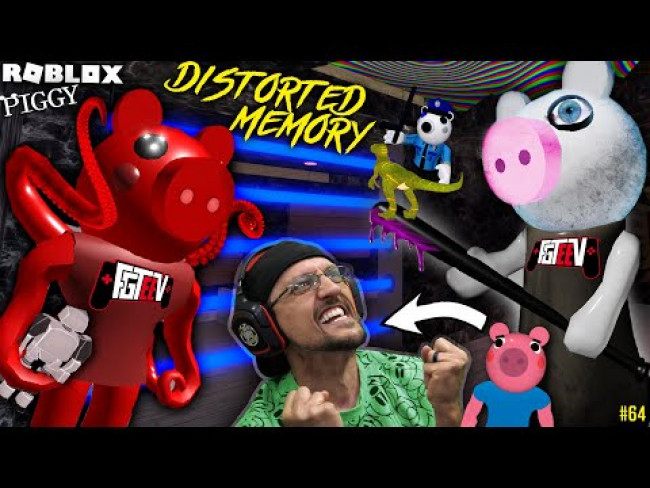 ROBLOX PIGGY Distorted Memory! George's Robot Dino Escape! (FGTeeV Bonus B4 Chapter 12 #64)