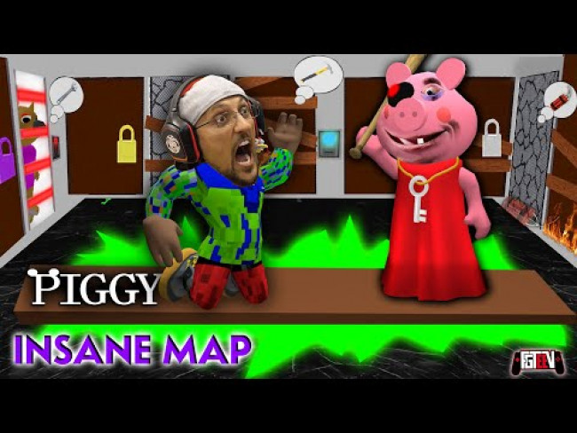ROBLOX PIGGY INSANE CHALLENGE!  FGTeeV Fam vs. 1 Room, Every Door & Nowhere to Hide! Best Time Wins!