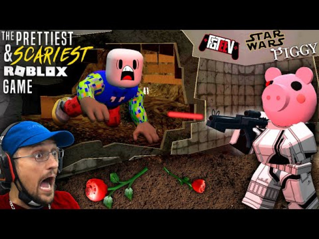 ROBLOX PIGGY Star Wars Asylum Mashup!  Roses for my friend Max! (FGTeeV Scurred)