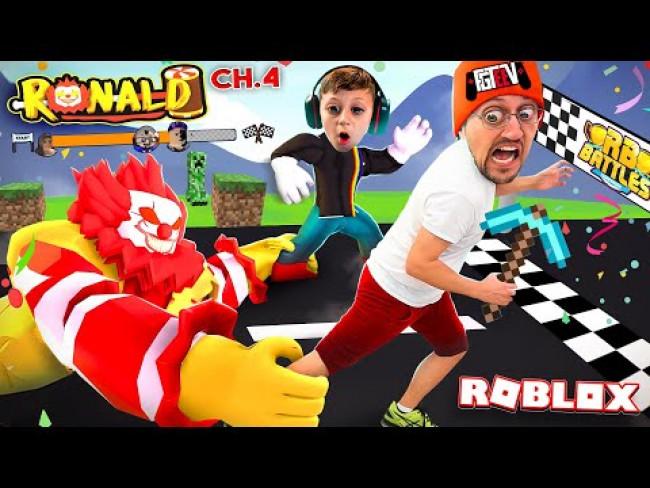RONALD MineCraft Donalds! Roblox Portals Race Escape! (FGTeeV x RB BATTLES Ch4.)