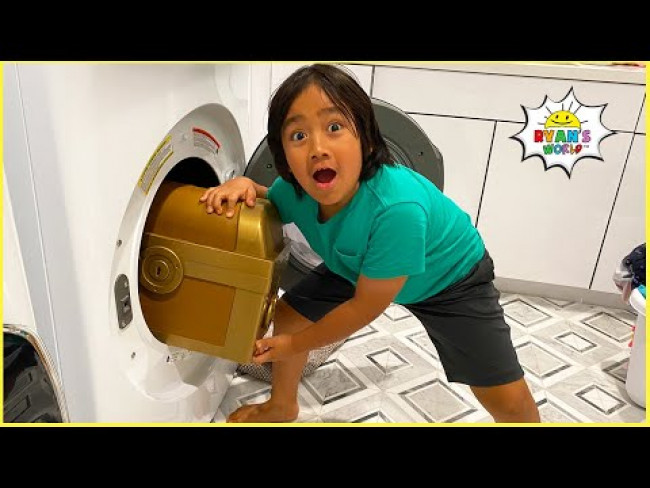 Ryan finds  Treasure Chest with Family around the house!!