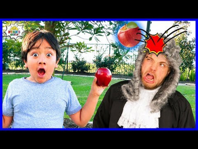 Ryan Learns about Isaac Newton and Gravity! | Educational Video with Ryan's World