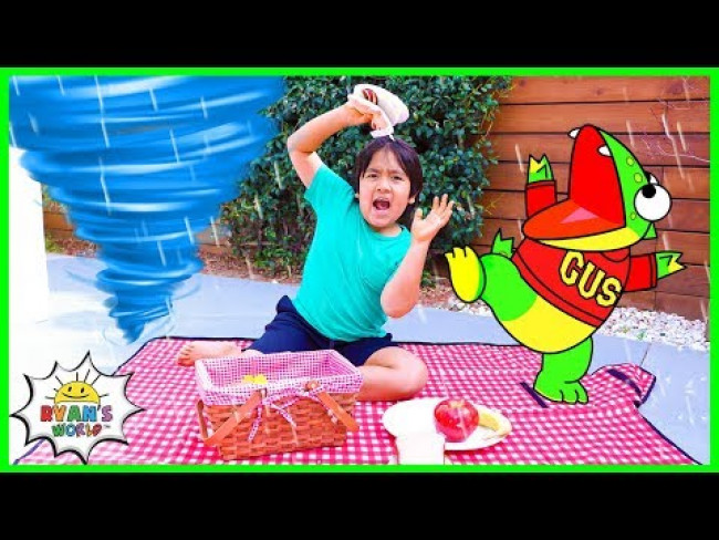 Ryan Learns about Weather with Gus the Gummy Gator! | Educational Video for kids