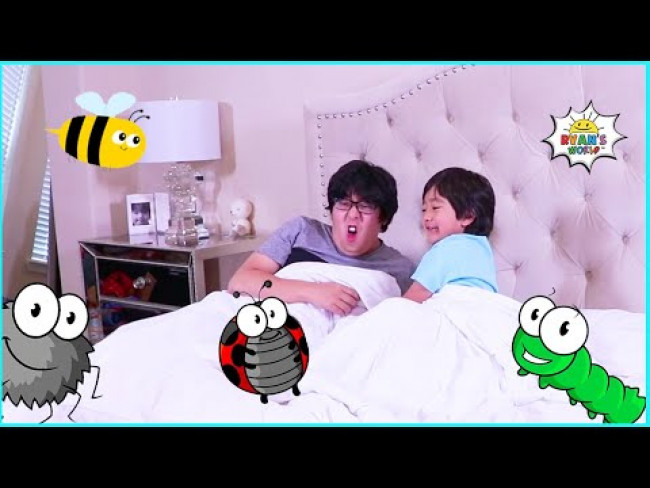 Ryan plays Bugs In Bed and more 1 hour fun games for kids!