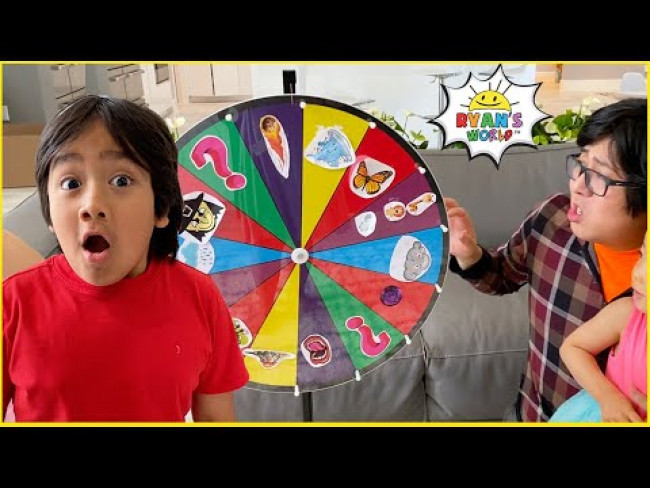 Ryan plays Magic SPIN The MYSTERY WHEEL & DOING WHATEVER IT LANDS ON Challenge