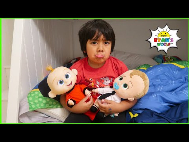 Ryan pretend play babysitting with 1 hr fun kids story!!!