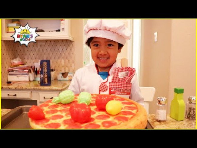 Ryan pretend play cooking toys food with Kitchen Play set 1hr video!!!