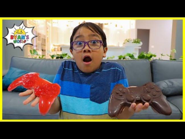Ryan's Chocolate Challenge vs Gummy Food!!!