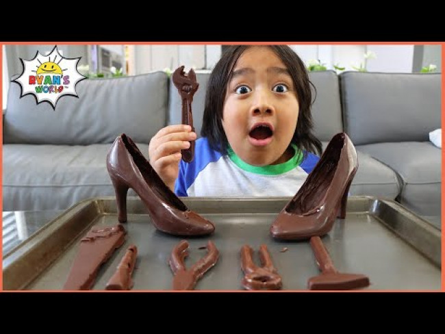 Ryan's Chocolate Challenge! Real vs Fake Edibles candy Pretend play!