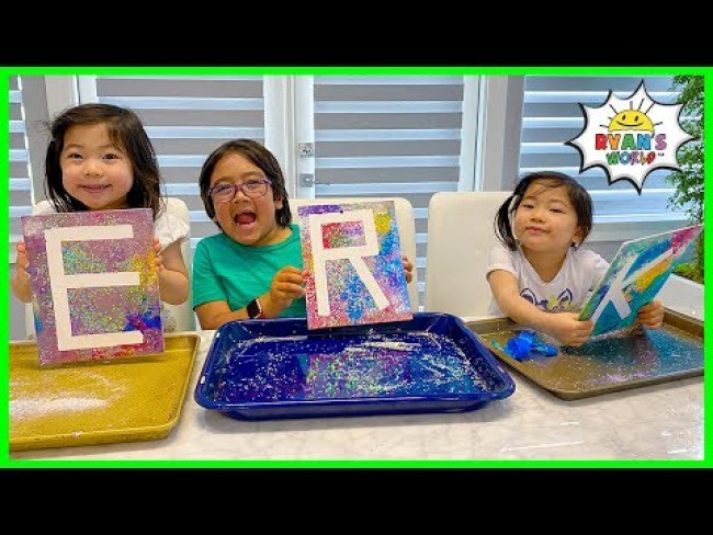 Ryan's DIY Easy Paint Art Activities for Kids with Emma and Kate!!