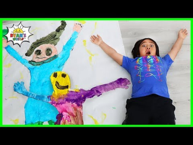 Ryan's DIY Painting Art of himself with Family!!!