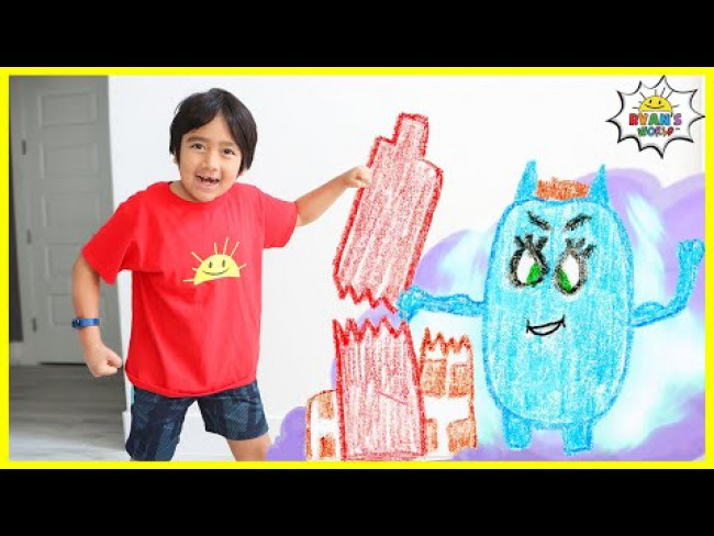 Ryan's Story about Monsters knocking buildings Stories for kids!!!
