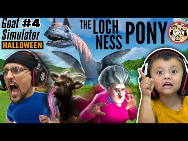 SCARY TEACHER meets HALLOWEEN Goat Simulator! (FGTeeV Shawn has a Girlfriend? #4)