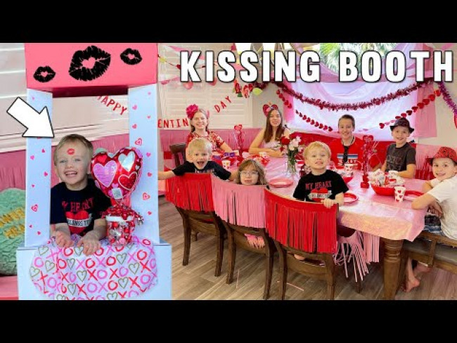 Secret Crush Kissing Booth || Valentine's Day Party!