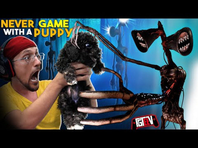 SIRENHEAD took my puppy Ollie!  (FGTeeV Gaming with a Pup)