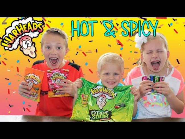 Sour and Spicy Warheads CHALLENGE -  Family Fun Pack