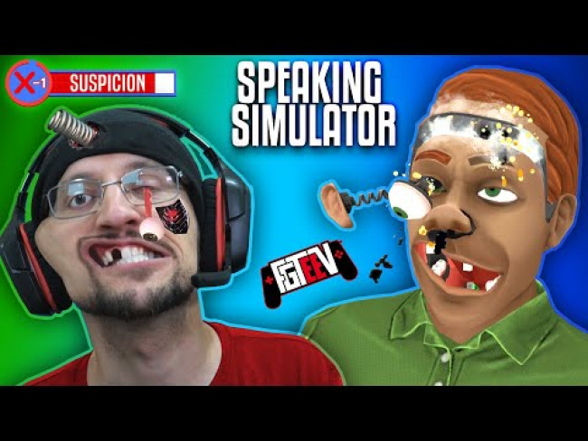 SPEAKING SIMULATOR!  Hilarious I forgot how to Talk Game! (FGTeeV Robot or Human?)